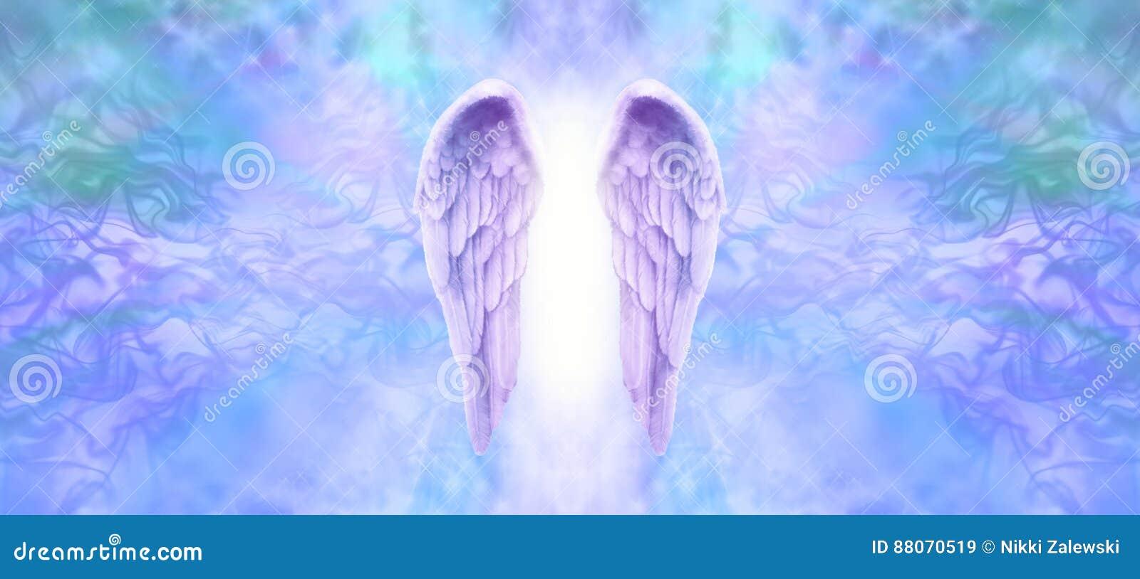 Angel Wings Banner lilás