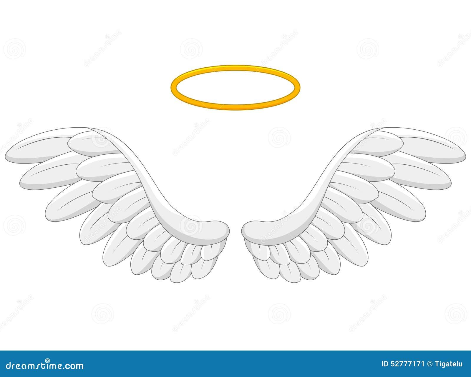 angel wings cartoon stock vector illustration of doodle 52777171 rh dreamstime com angel wings cartoon png angel wings cartoon simple