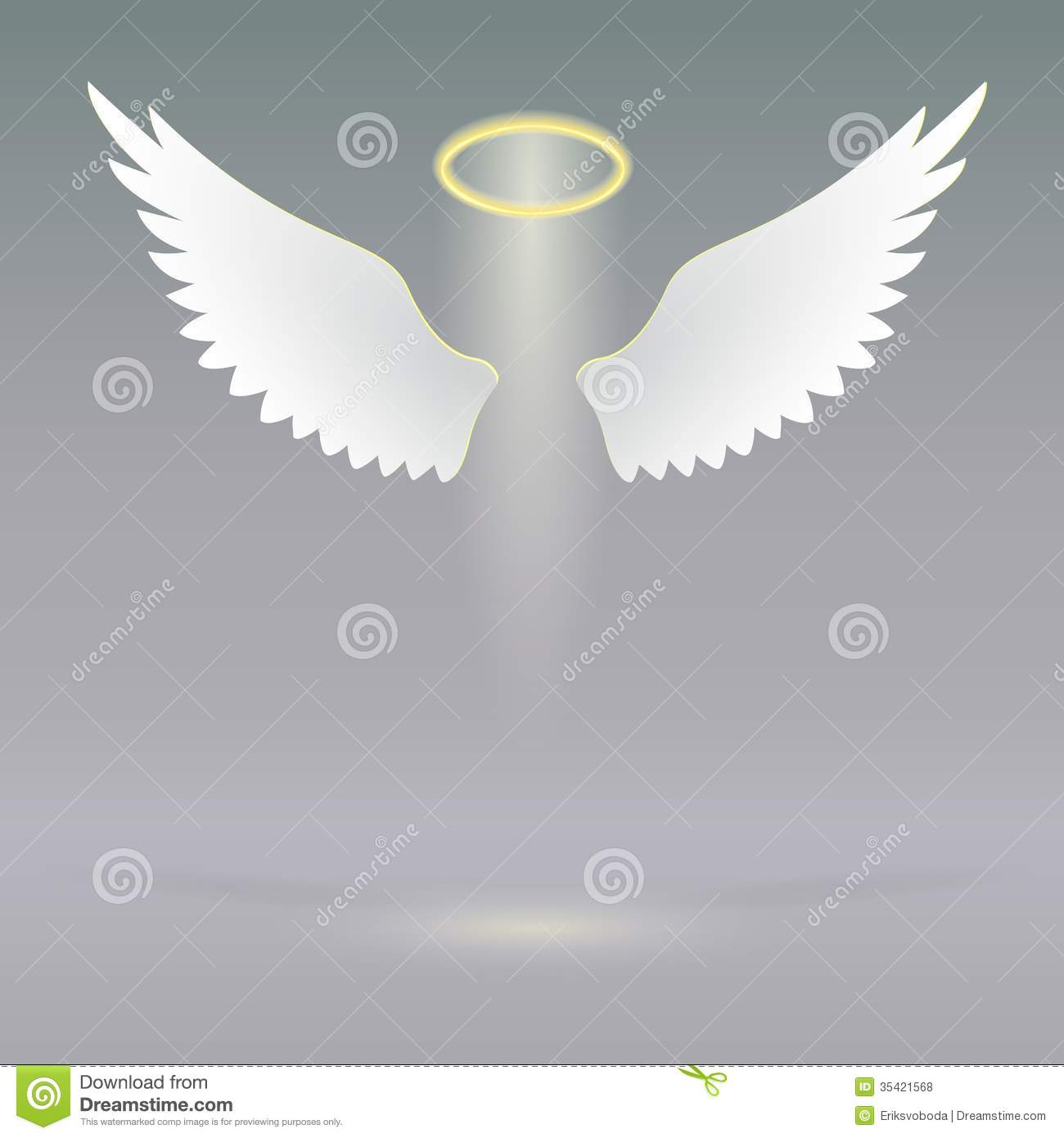 Angel Wings On Heavenly Stock Vector Illustration Of Eps10