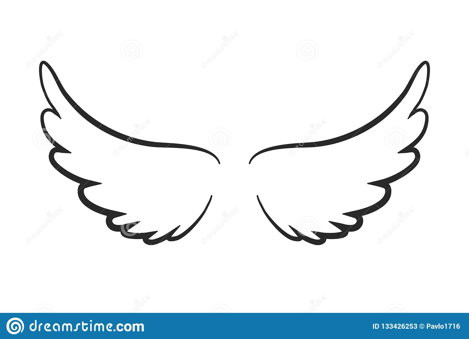 Angel wings icon -