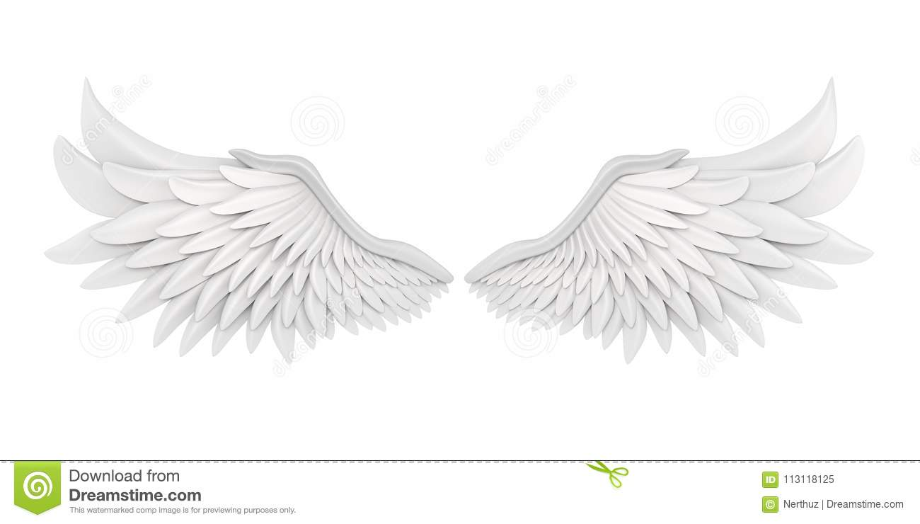 Angel Wings Isolated blanc