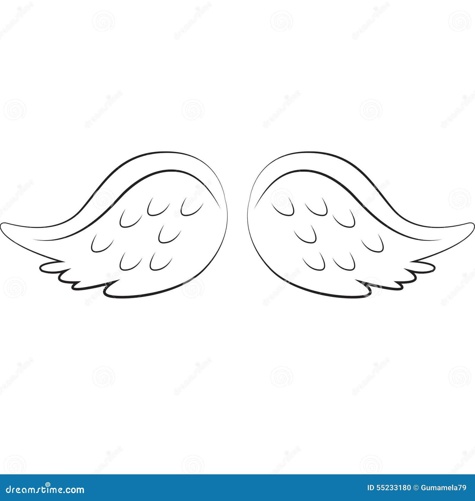 angel wings stock illustration image 55233180