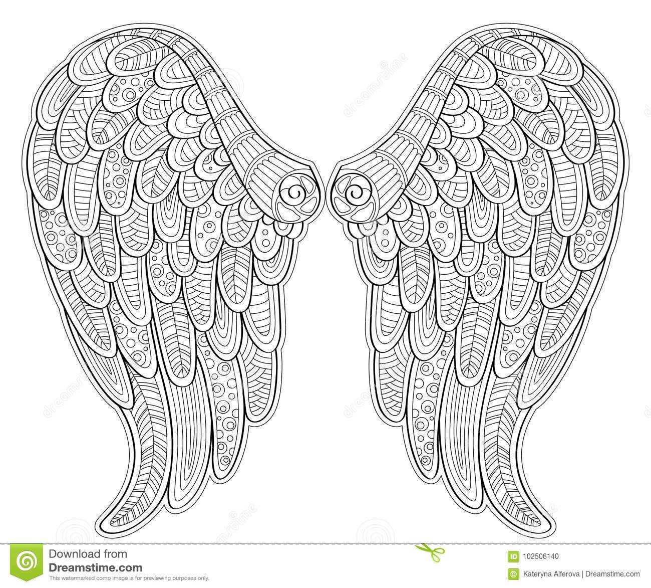 193+ Mandala Angel Wings Svg – SVG,PNG,DXF,EPS include