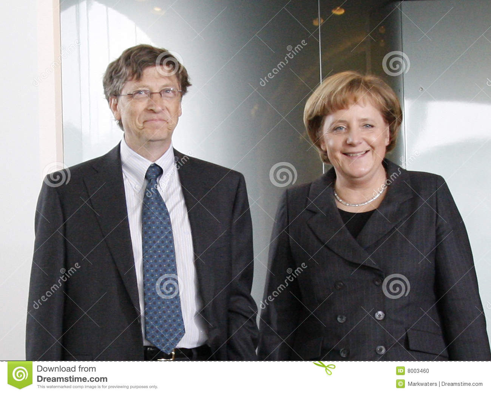 Angela Bill Gates merkel