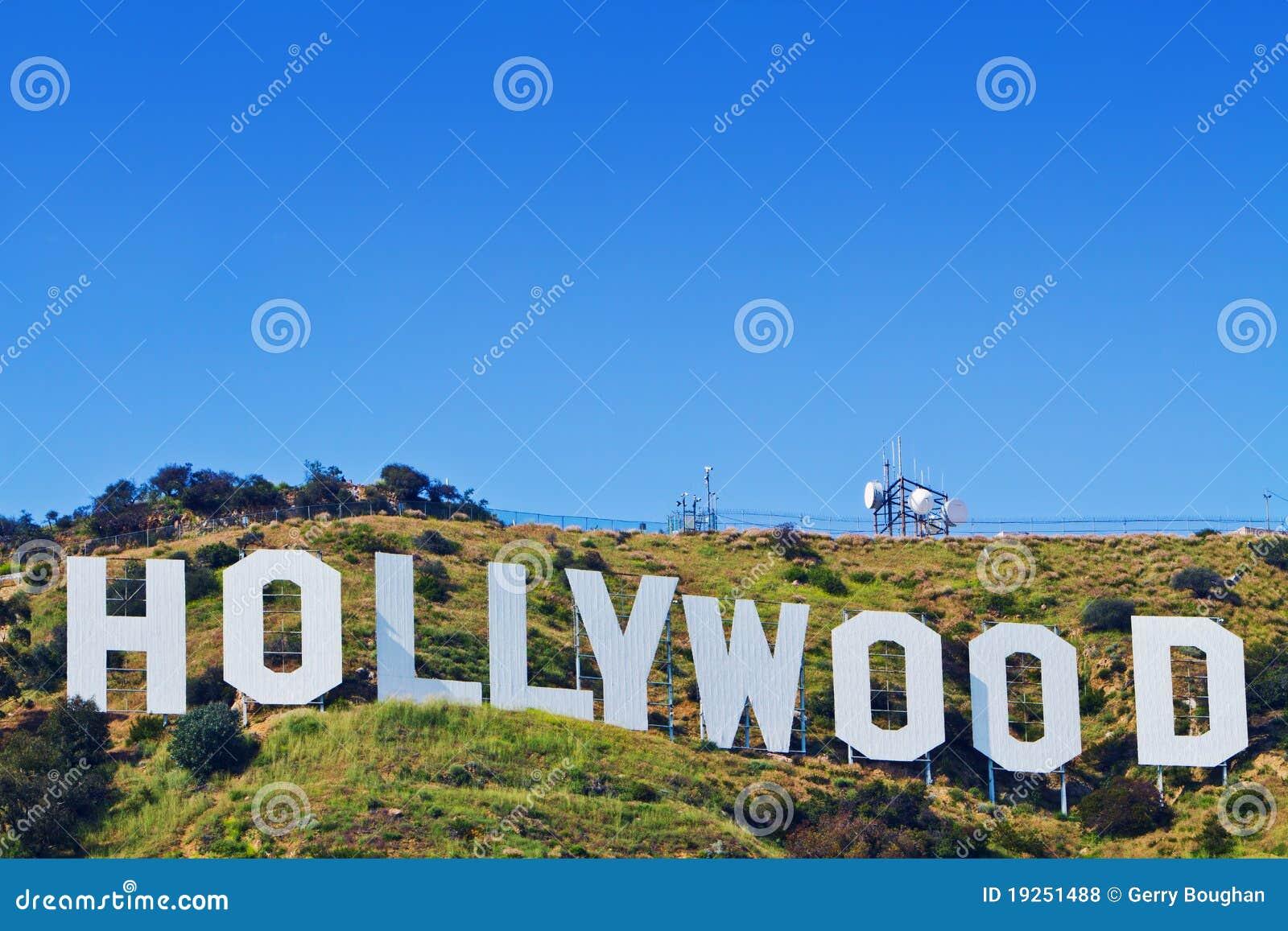 Angeles Kalifornien hollywood iconic los tecken