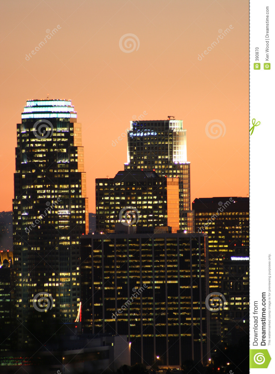 Angeles los skyscrapers
