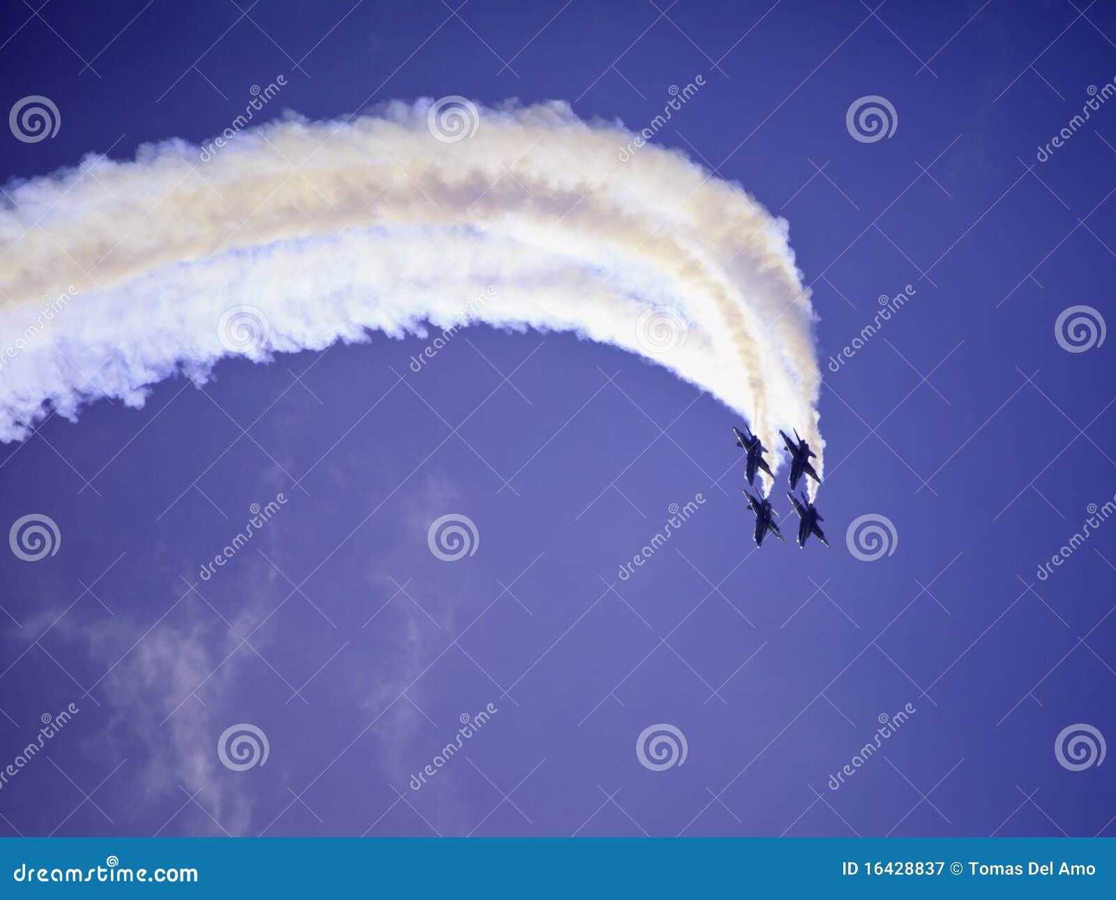 Angeli blu durante il volo