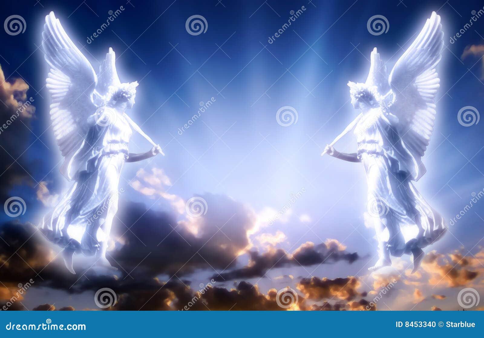 Angeli con indicatore luminoso divino