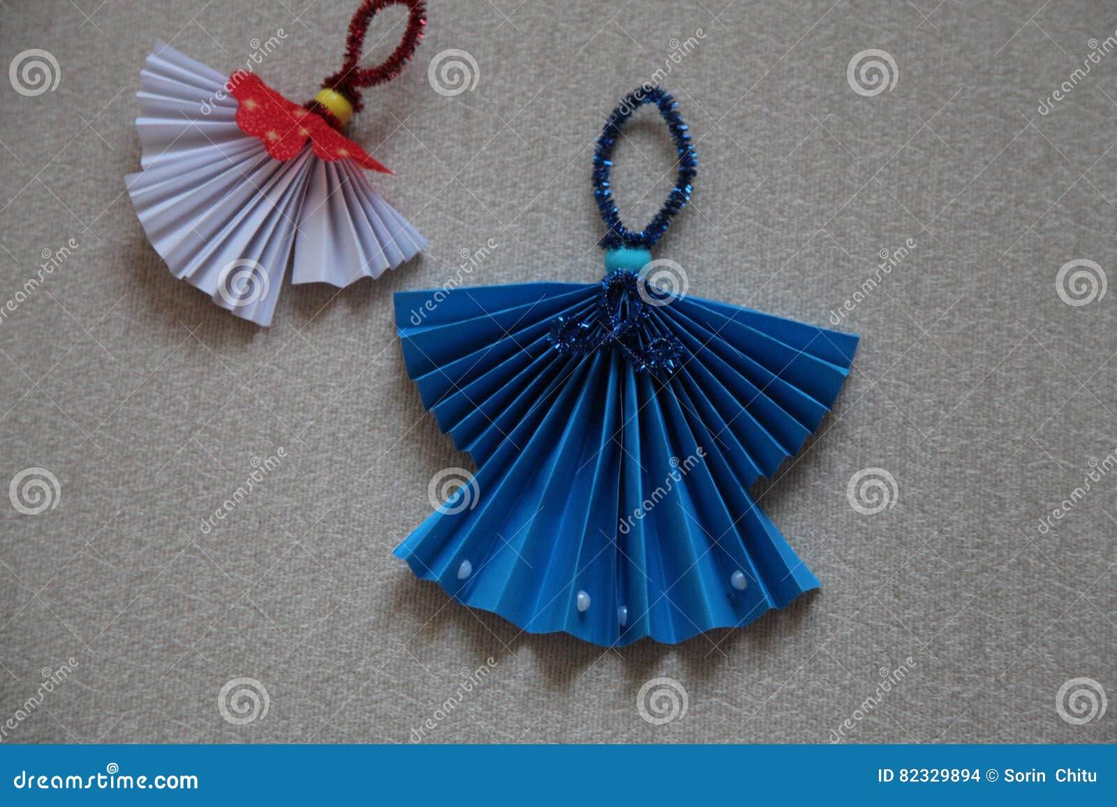 Angeli Di Carta Fotografia Stock Immagine Di Handmade 82329894