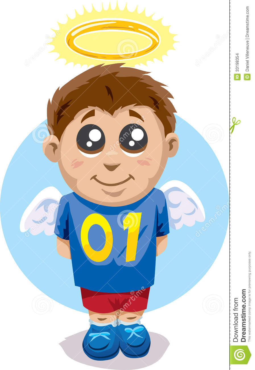 Angelic Child Stock Images - Image: 33198354 Well Behaved Child Clipart