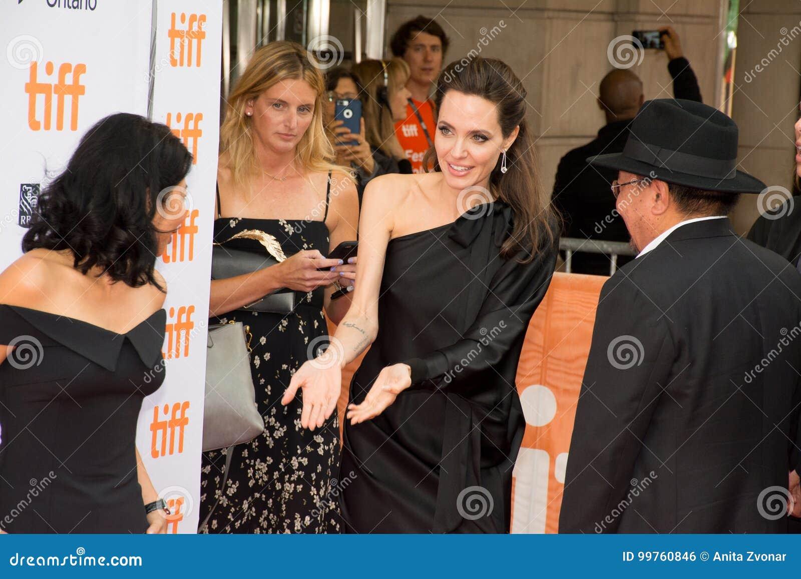 Angelina Jolie World Premiere van ` doodden zij eerst Mijn Vader ` bij Internationaal de Filmfestival van Toronto