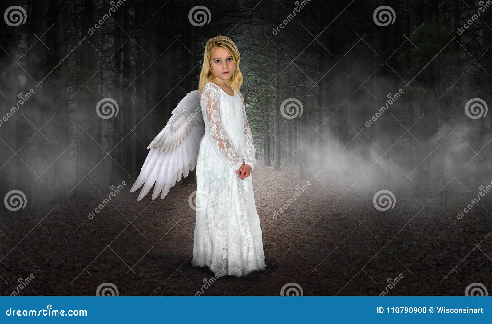Angelo della ragazza, cielo, religione