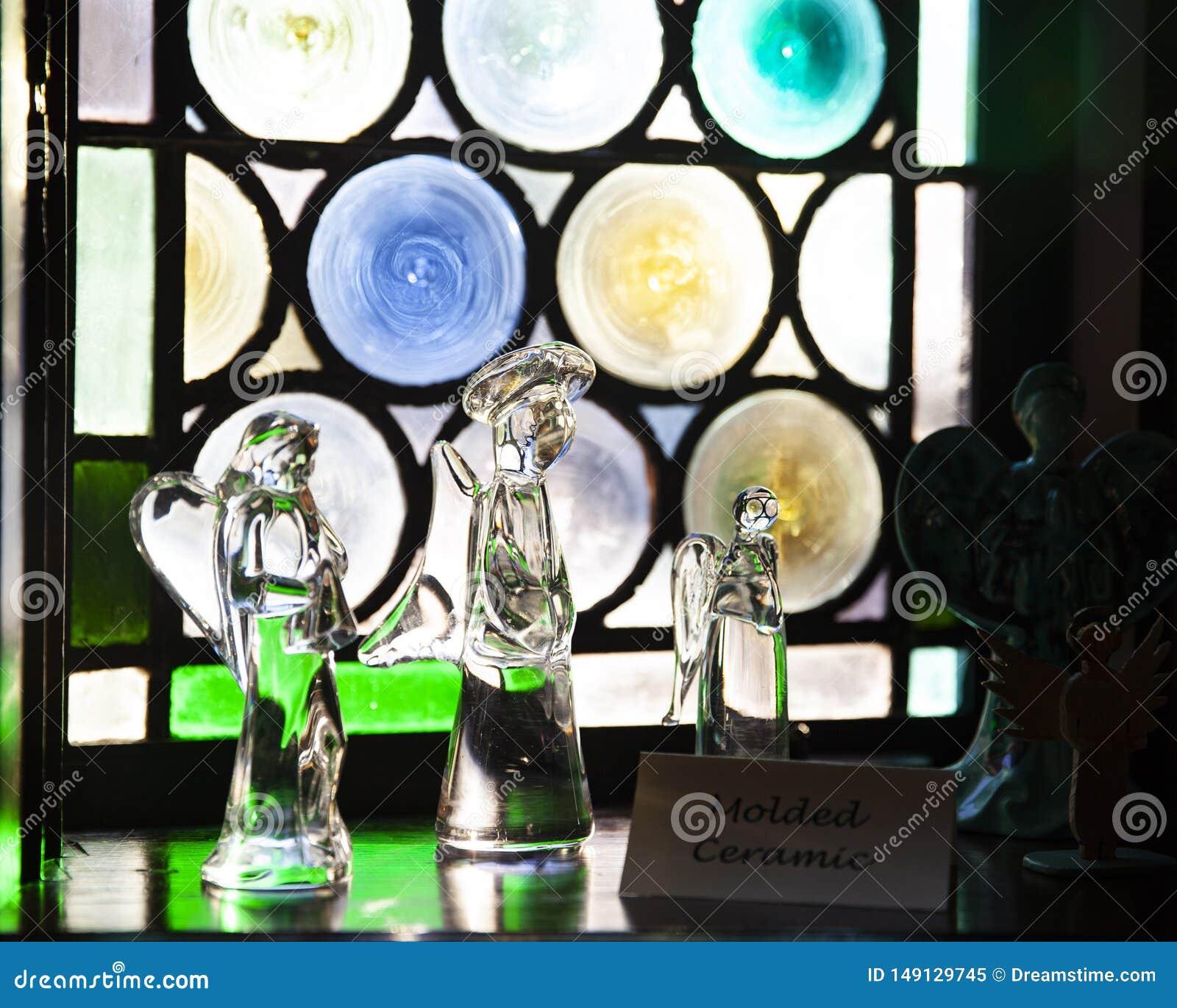 Angelo di vetro di Natale