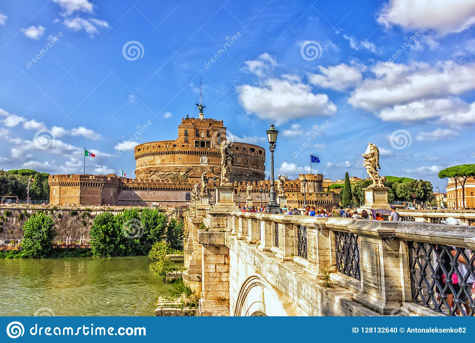 ` Angelo Ponte Sant über dem Tiber- und Castel Sant-` Angelo in Parco Adriano, Rom