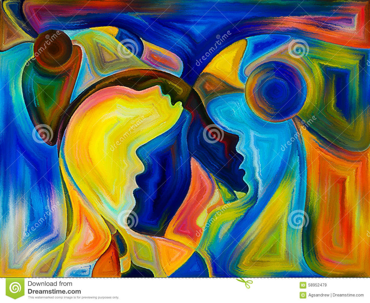 angels of color stock image image of background imagination 58952479