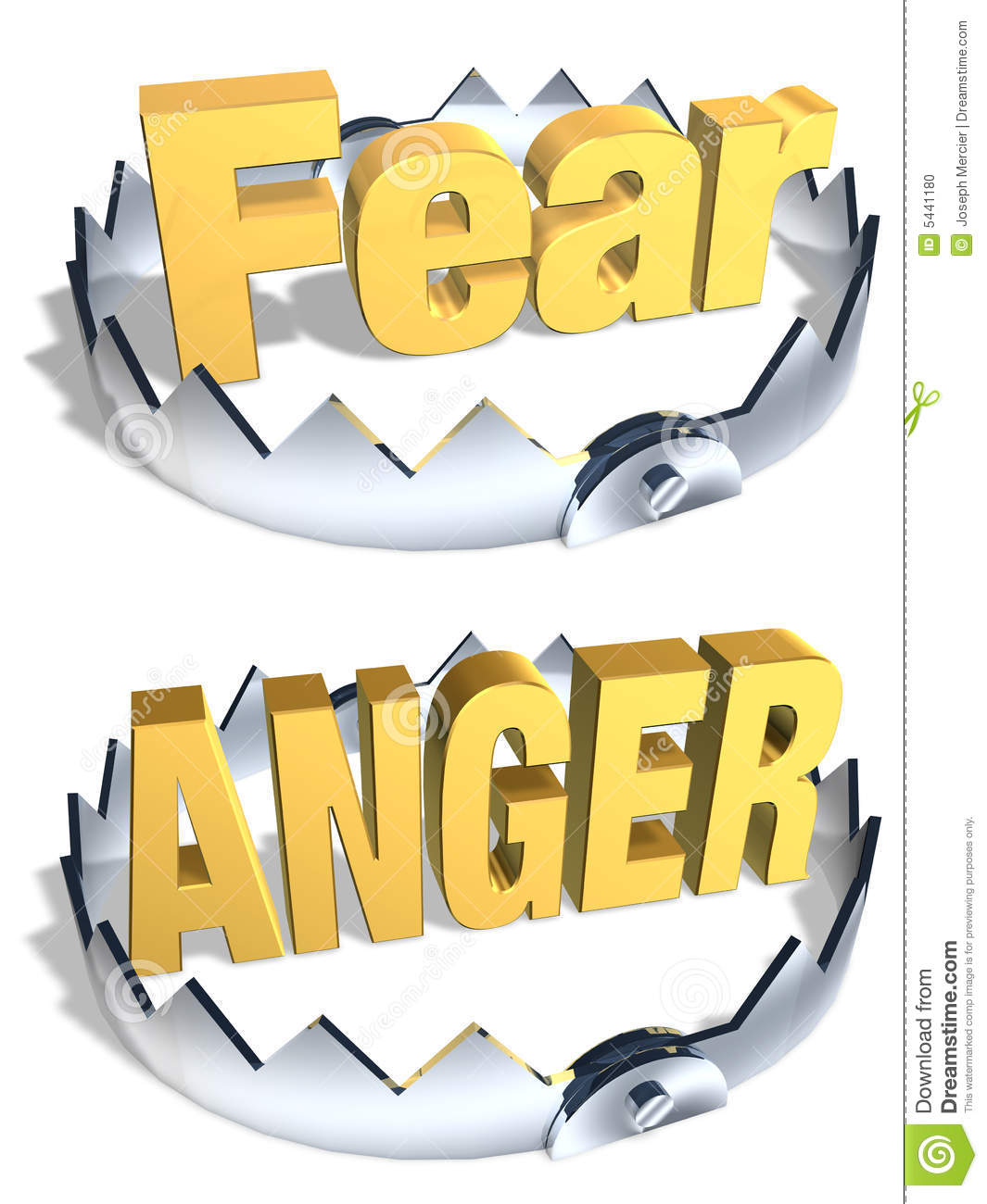 Anger fear trap