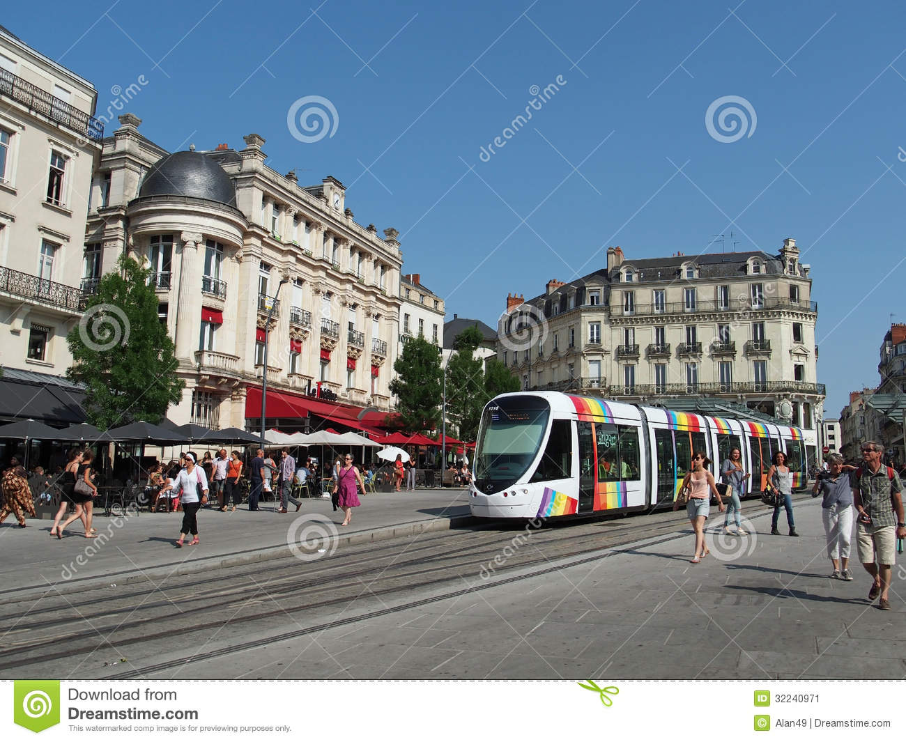 Angers france july 2013 tramway in the town center for Center carrelage namur