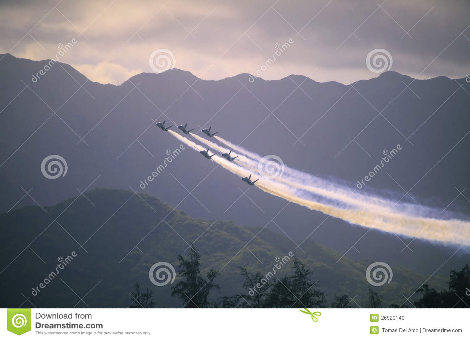 Anges bleus chez Kaneohe Airshow
