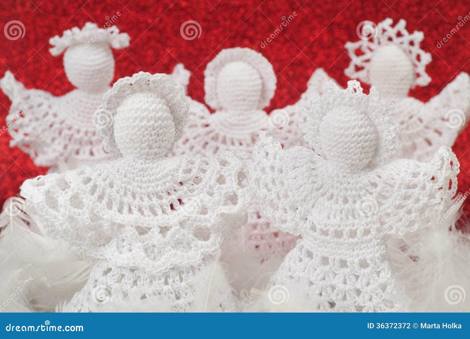 Anges de crochet de no l photographie stock image 36372372 - Anges de noel ...