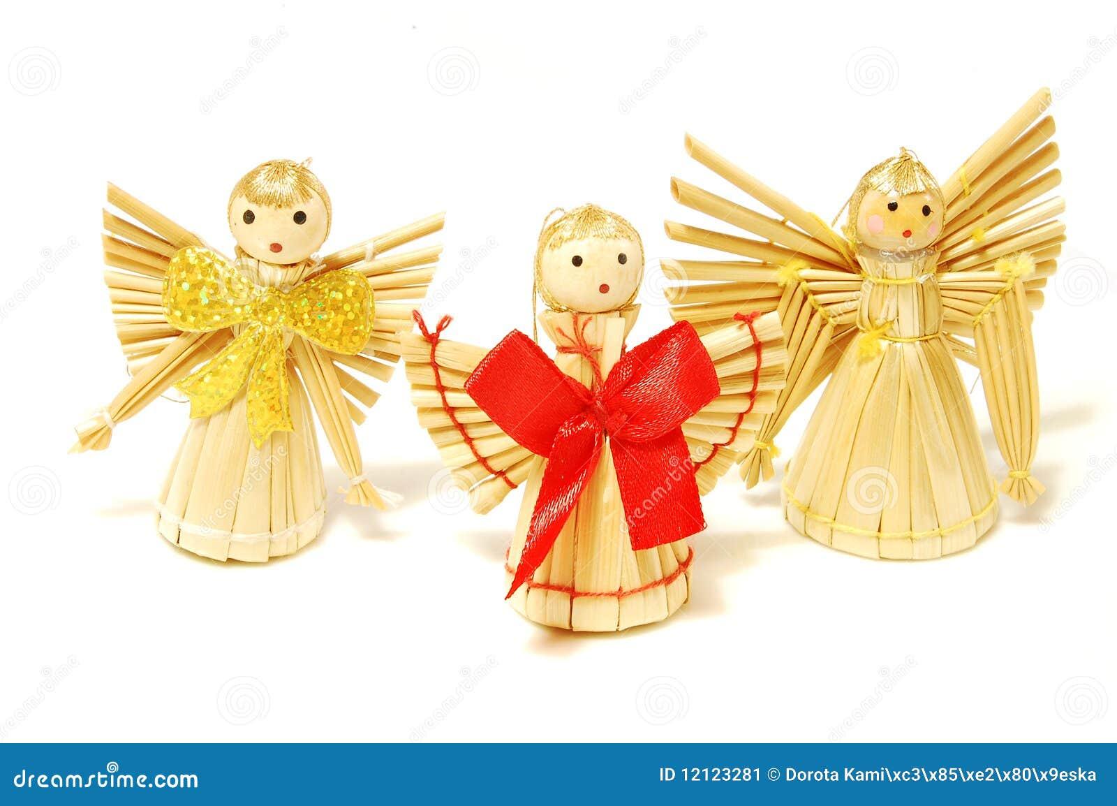 Anges de paille de no l image stock image 12123281 - Anges de noel ...