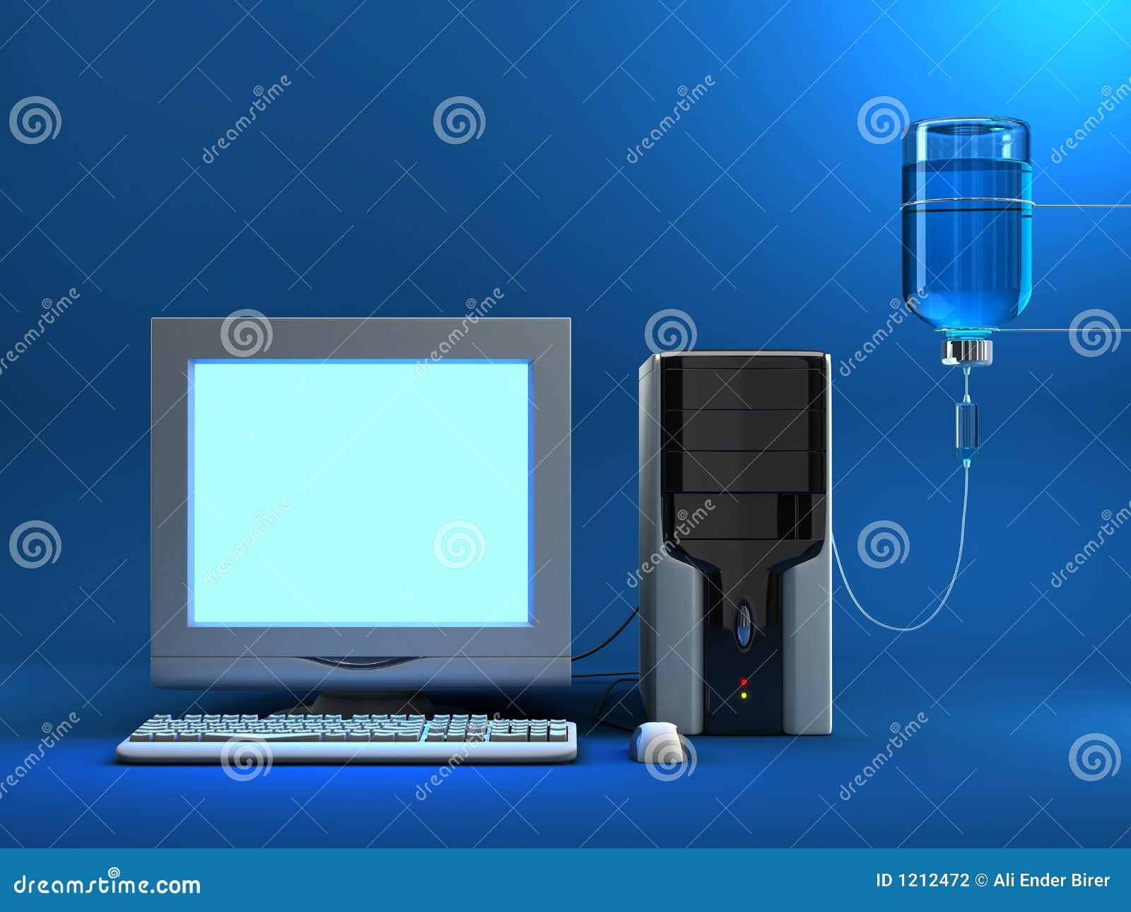 Angesteckter Computer