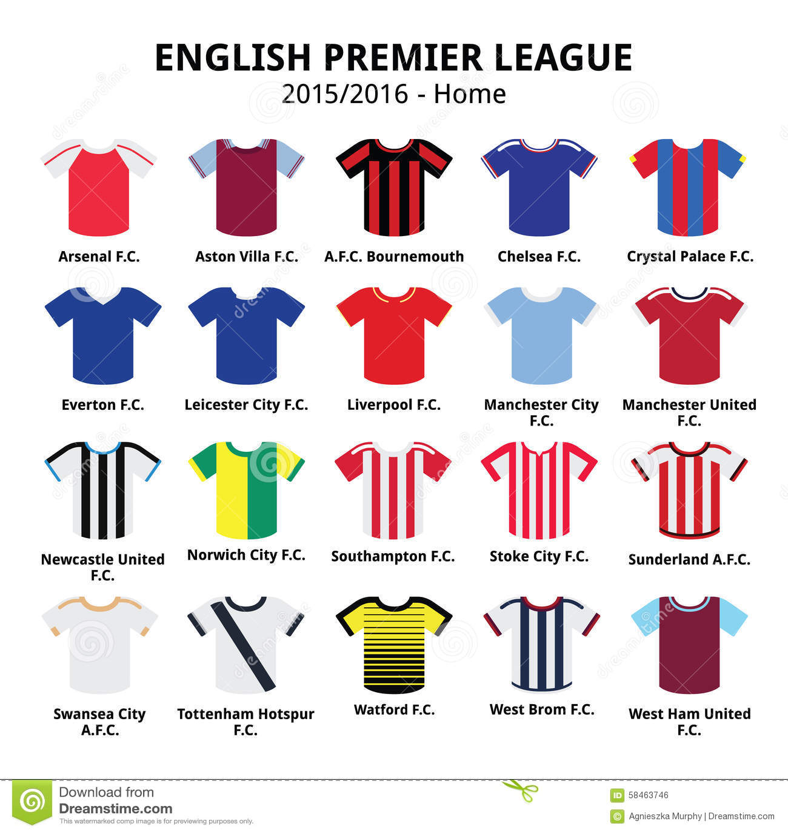 Angielski Najważniejszy liga 2015, 2016 - futbolu lub piłki nożnej bydło ikony ustawiać