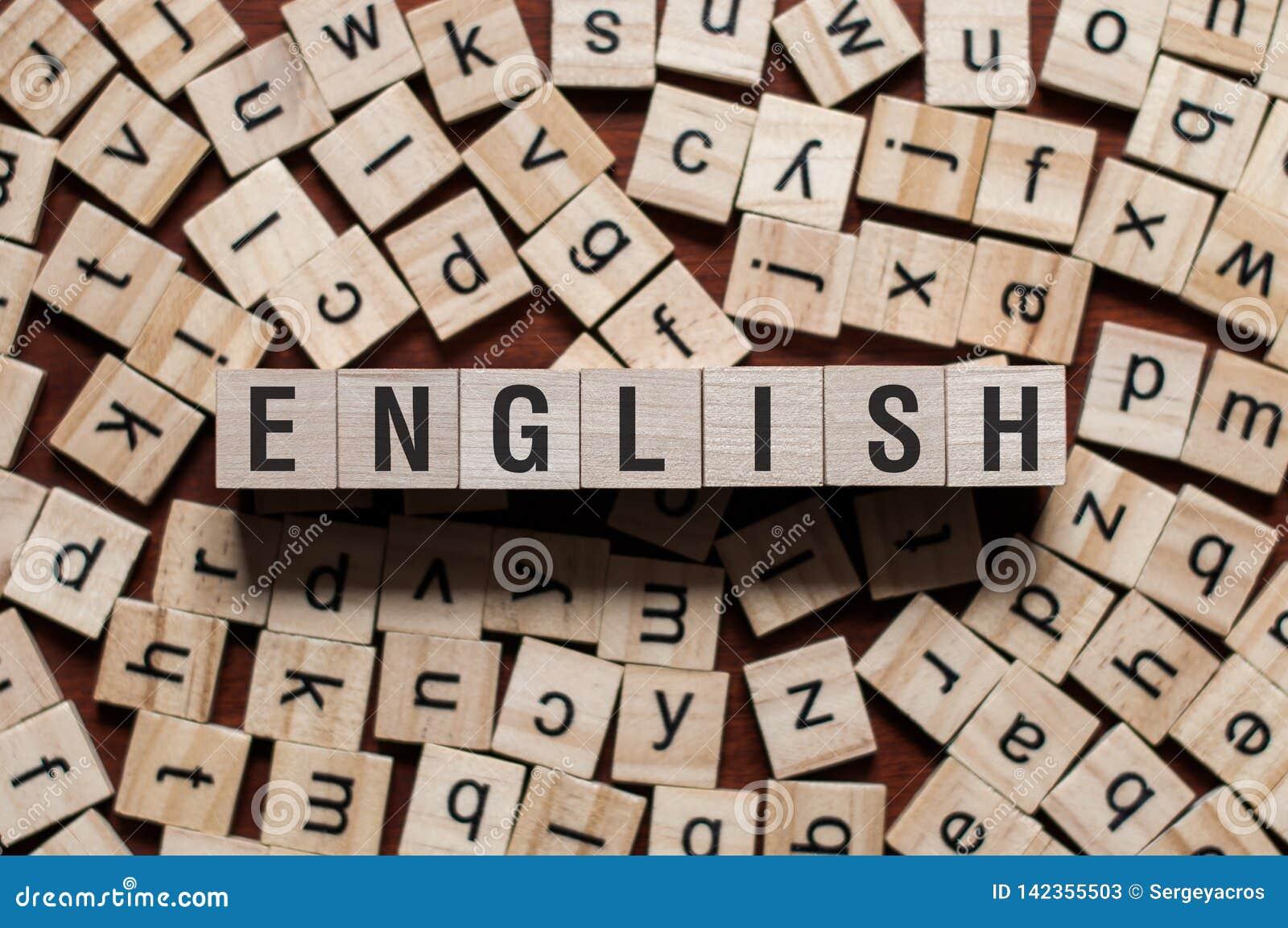 Angielszczyzny słowa pojęcie
