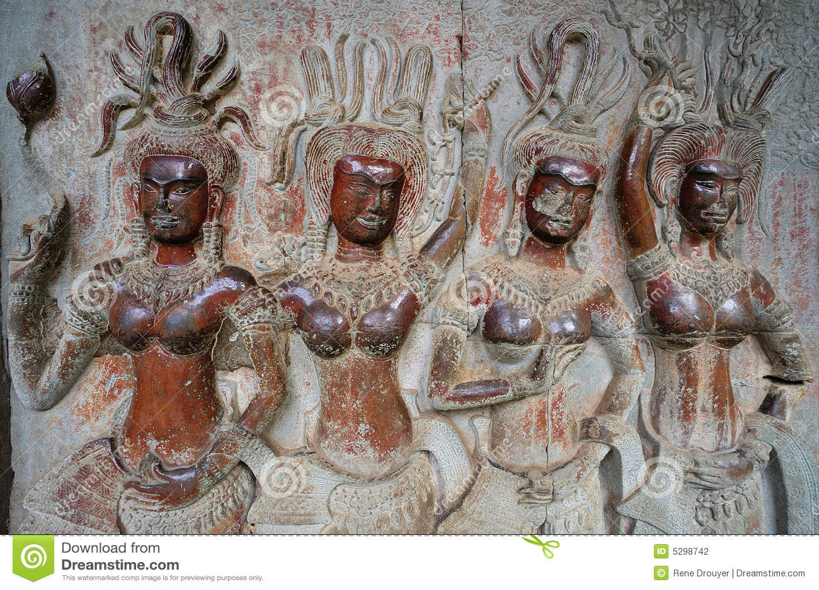 Angkor apsara柬埔寨wat