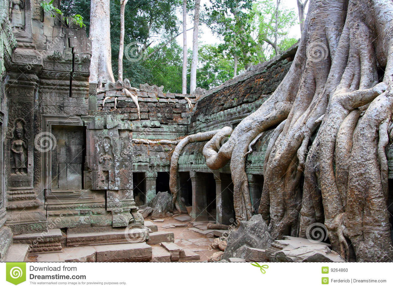 Angkor Preah Khan Stock Photo - Image: 9264860