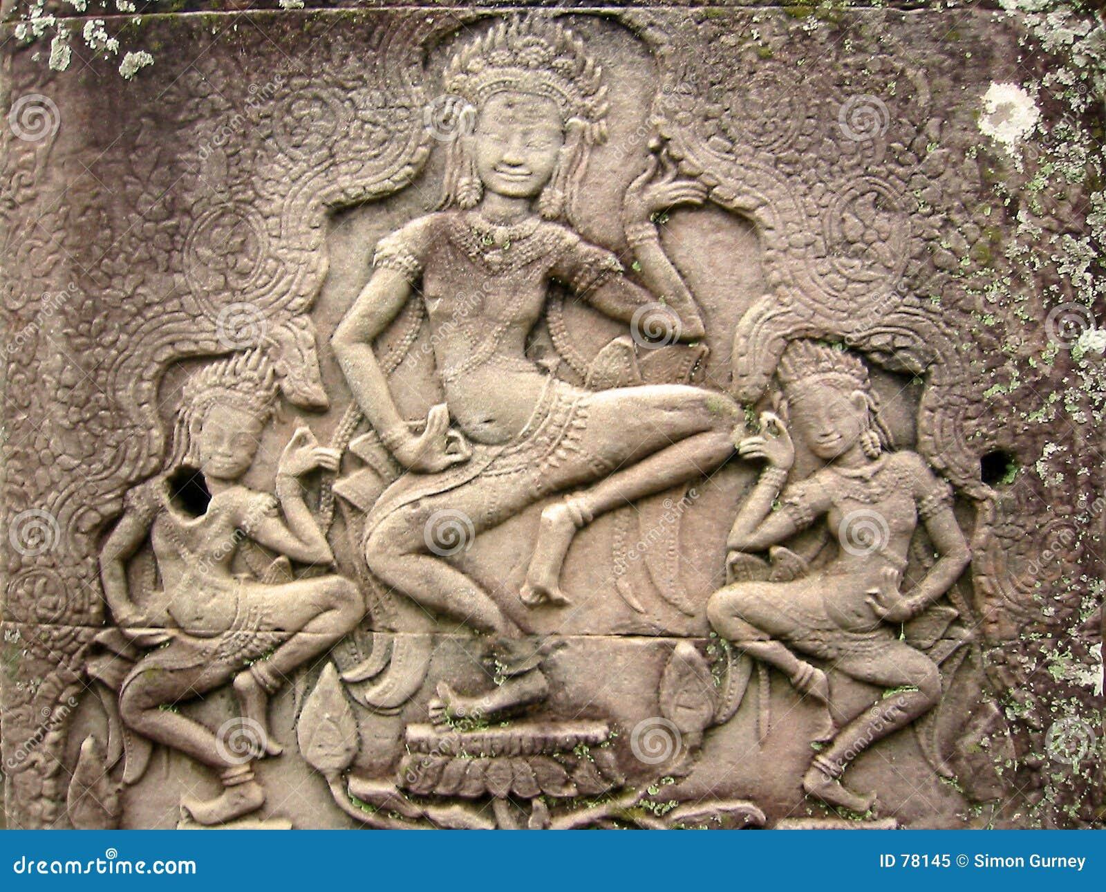Angkor tancerzy asparas wat khmer