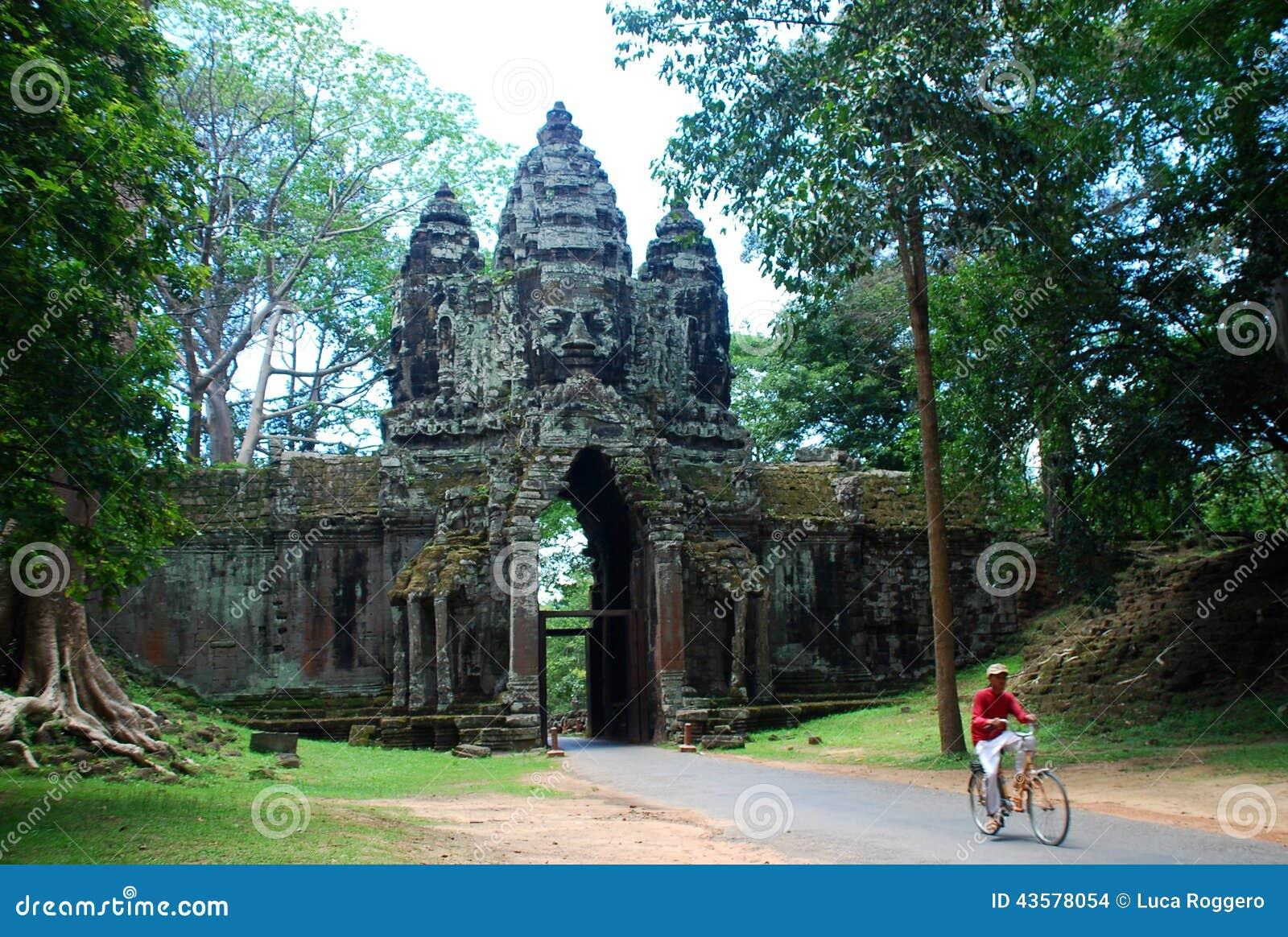Angkor Thom Siem Reap landskap, Cambodja