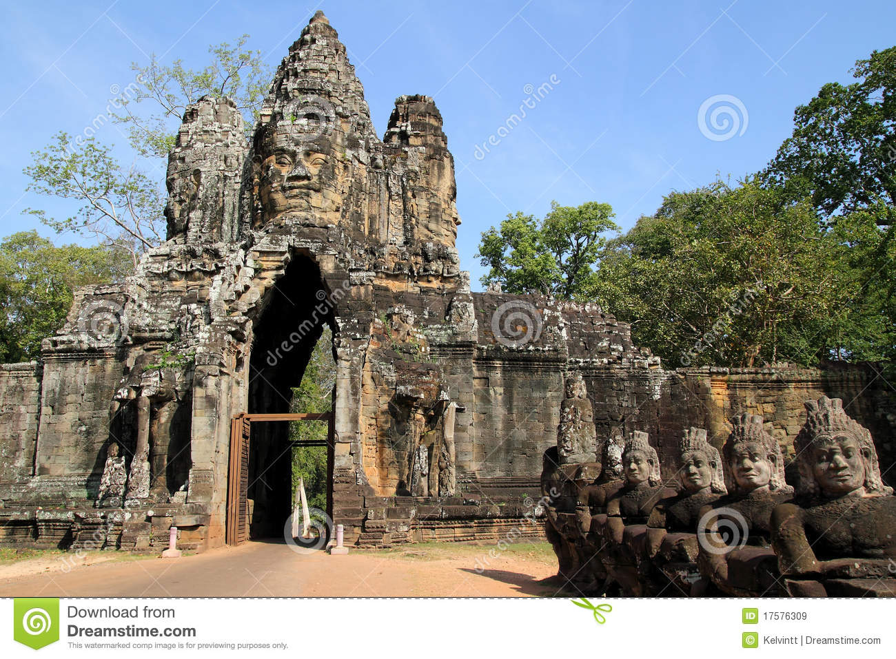 Angkor Thom South Gate Royalty Free Stock Images Image