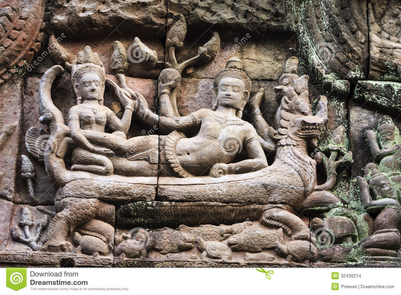 Angkor wat ancient carving stock photo image of