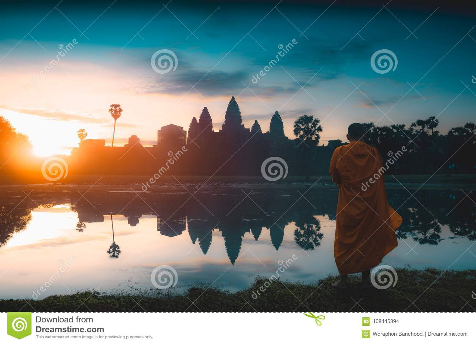 Angkor Wat bij zonsopgang