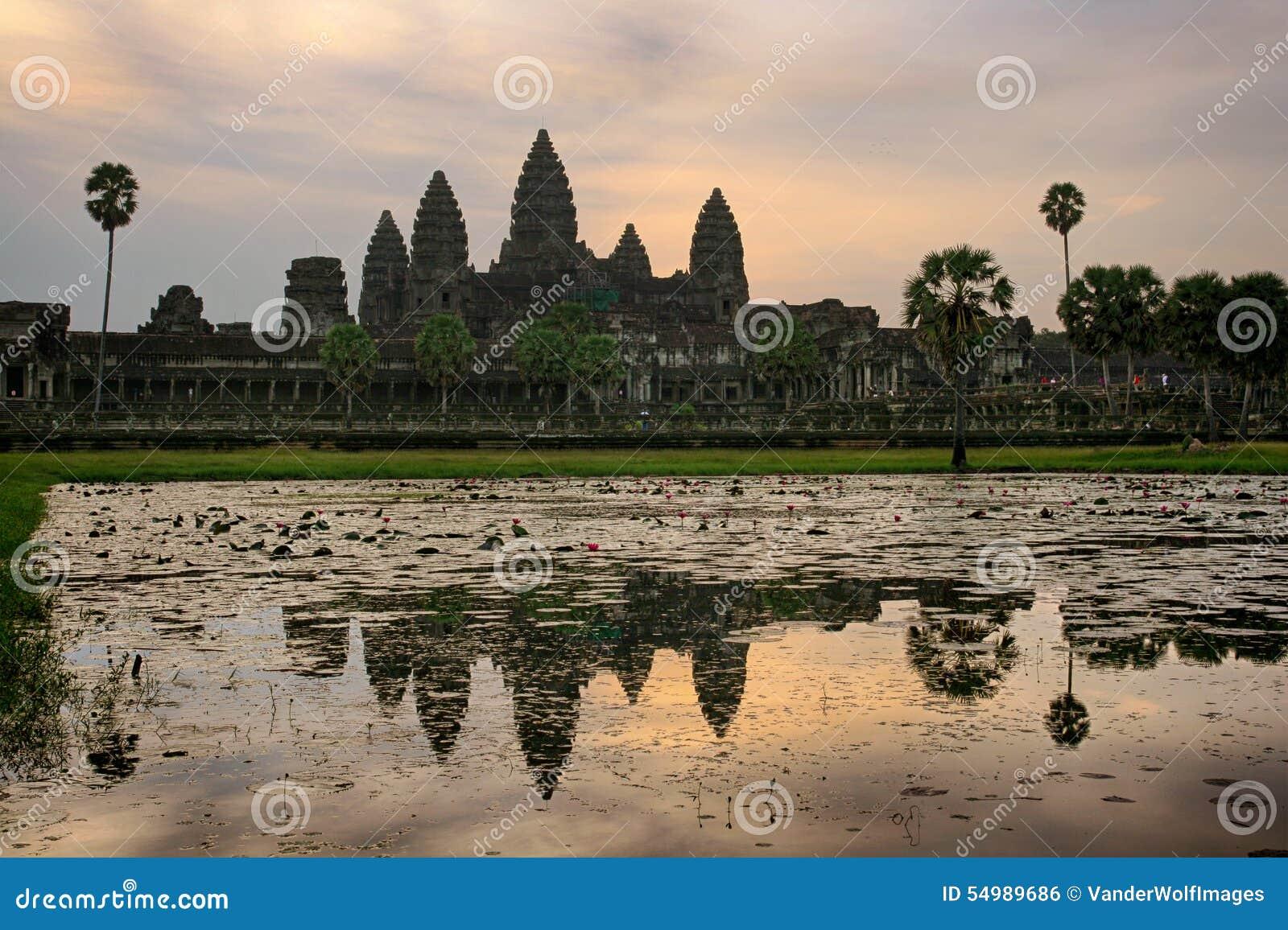 Angkor Wat Cambodia soluppgång