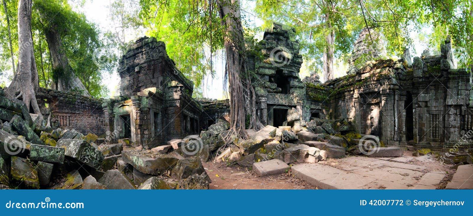 Angkor Wat Cambodia Templo budista antigo do Khmer do baile de finalistas de Ta