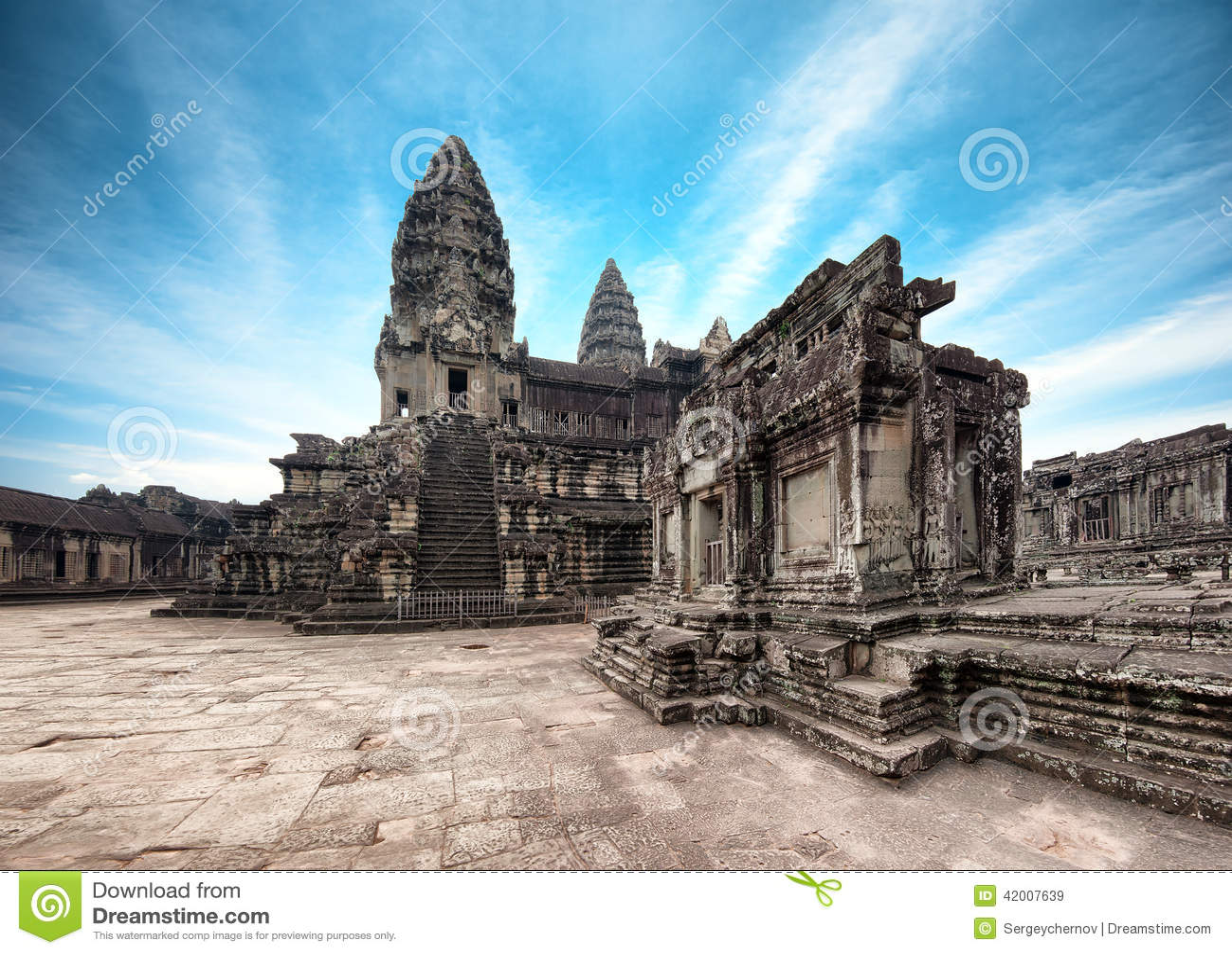 Angkor Wat Kambodja De Khmer tempel van Angkorthom