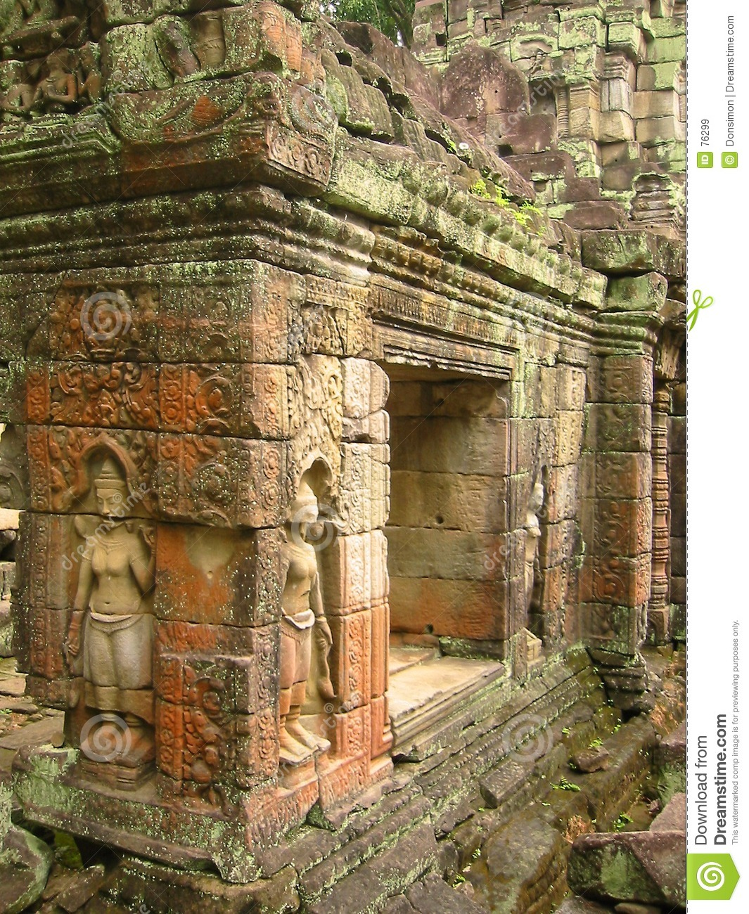 Angkor wat temple walls aspara carvings royalty free stock