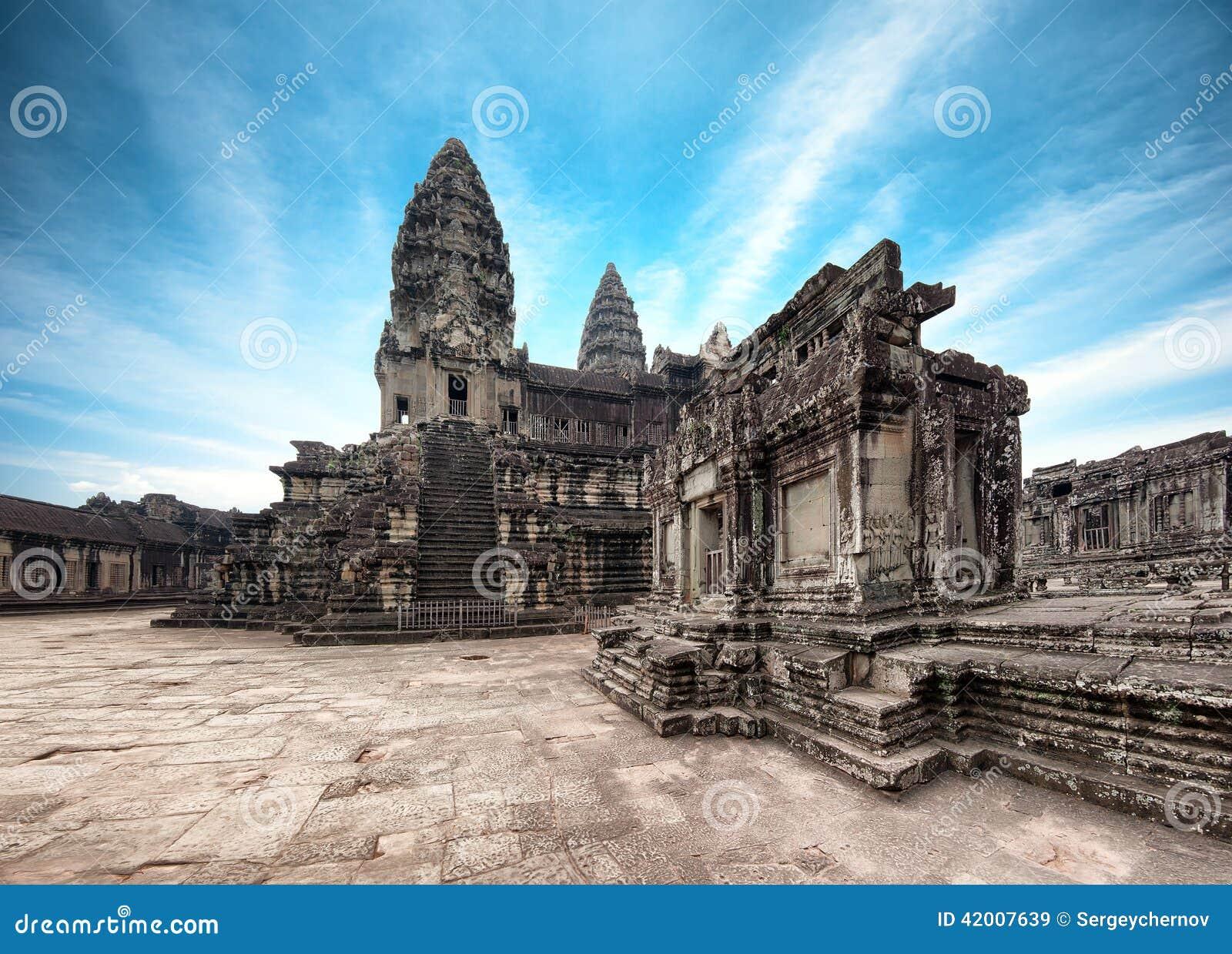 Angkorcambodia wat Angkor Thom en khmertempel