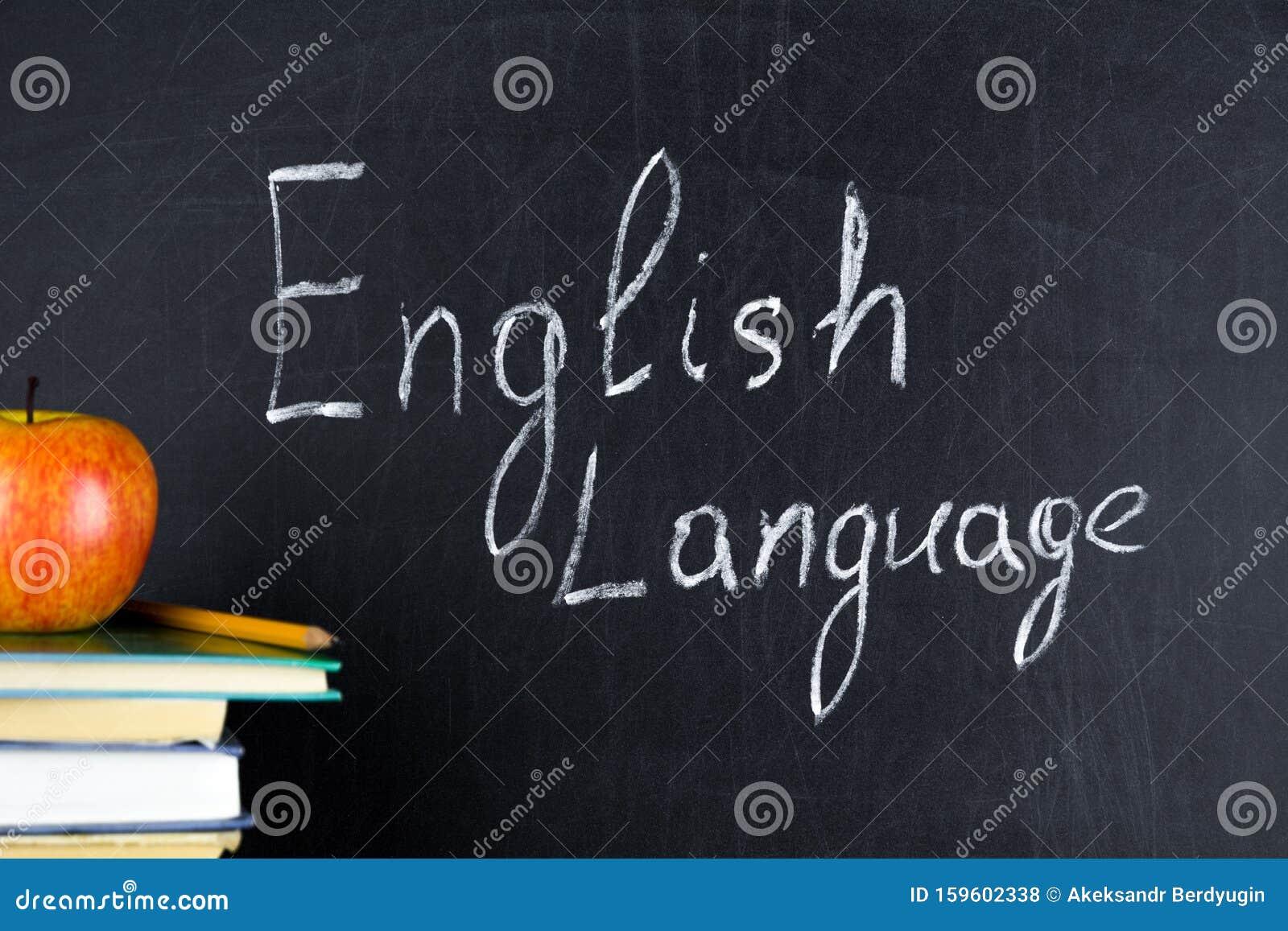 Anglais Dessin De La Langue Anglaise Sur Un Tableau Noir Photo Stock Image Du Anglais Tableau 159602338