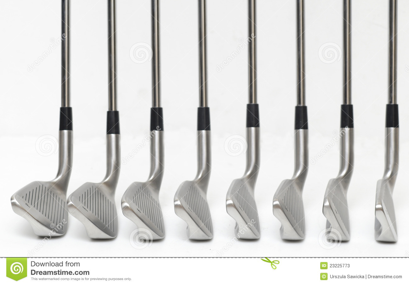 angle de club de golf sur le fond blanc image stock. Black Bedroom Furniture Sets. Home Design Ideas