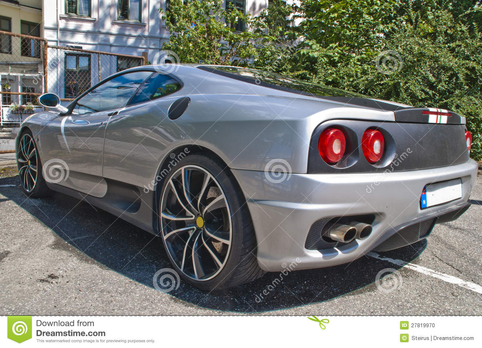 Angle italien 1 de voiture de sport
