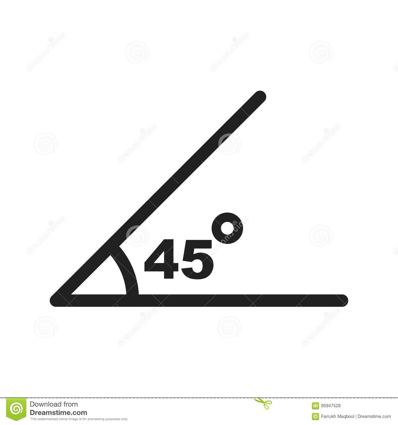 Angle Stock Vector Illustration Of Shape Math Triangle 95947528