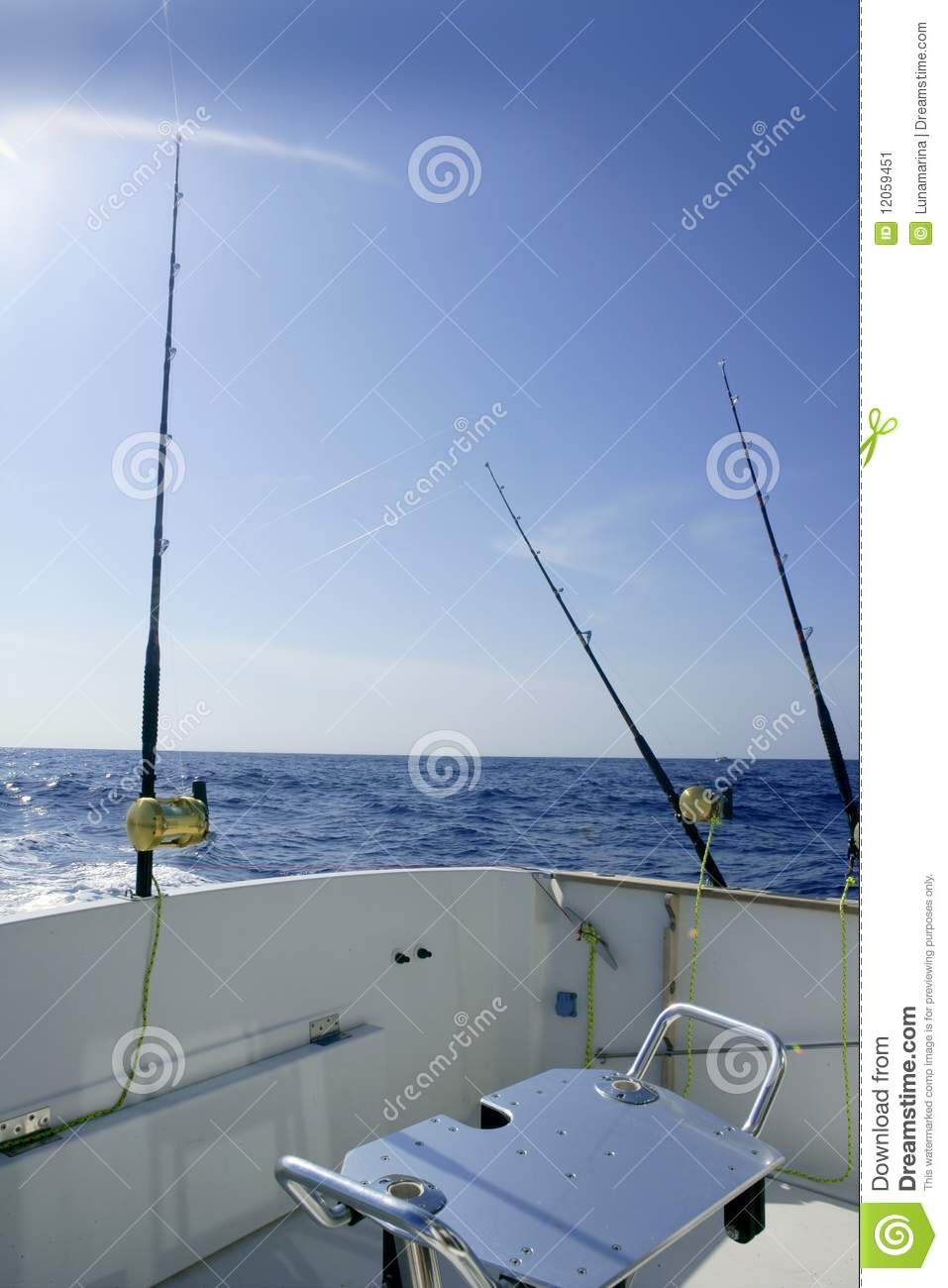 Angler boat big game fishing in saltwater stock image for Boat fishing games
