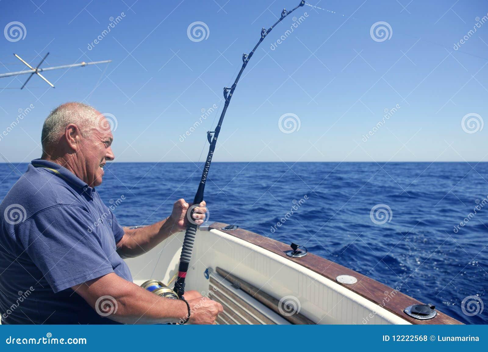 Angler senior big game sport fishing boat