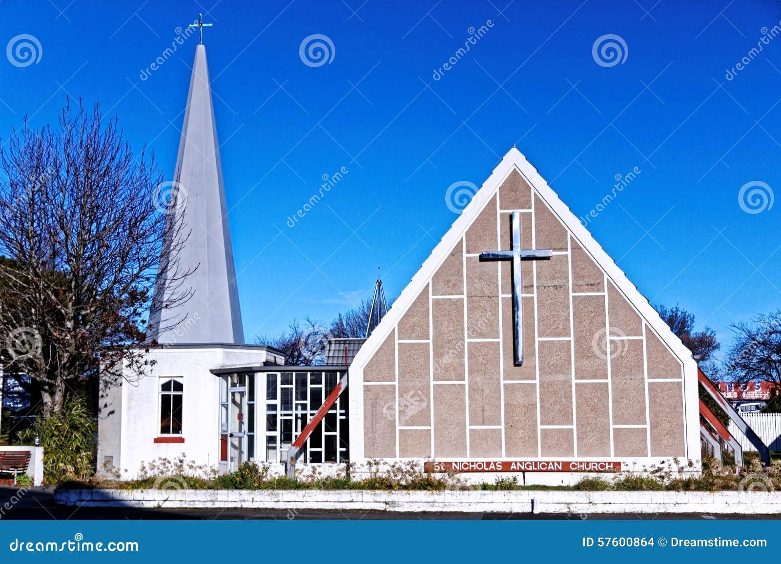 Anglican Church, Christchurch New Zealand Stock Photo