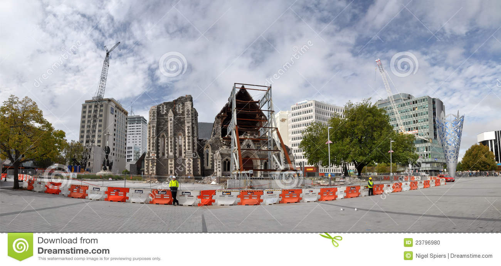 Anglican katedralne Christchurch trzęsienia ziemi ruiny