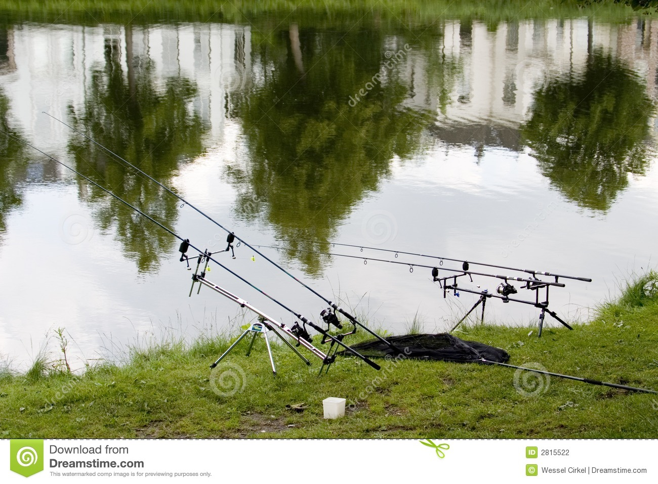 Angling rods near pond stock photography image 2815522 for Stocked fishing ponds near me