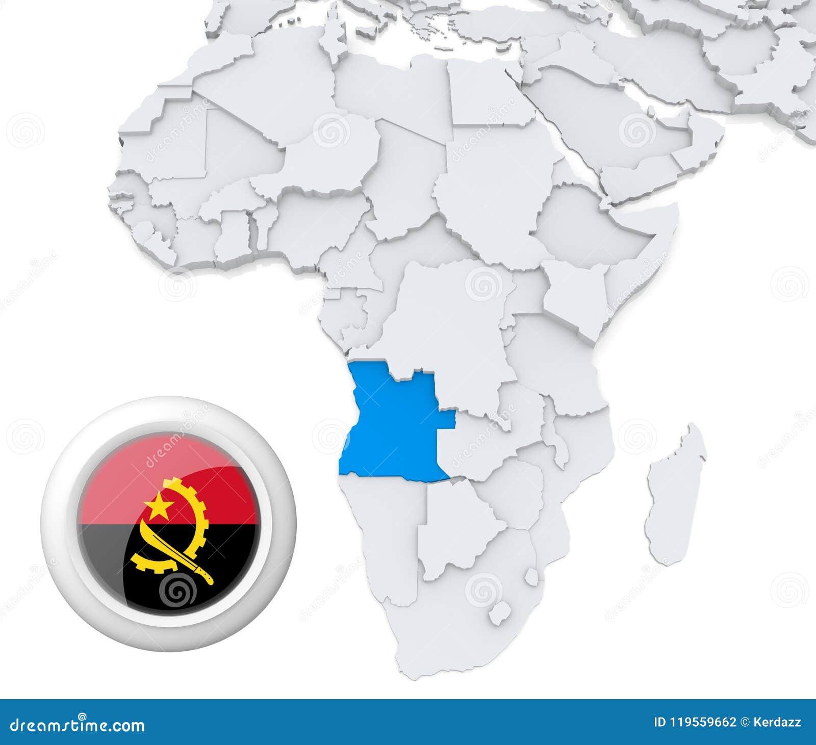 Africa Map Angola.Angola On Africa Map Stock Illustration Illustration Of Politics