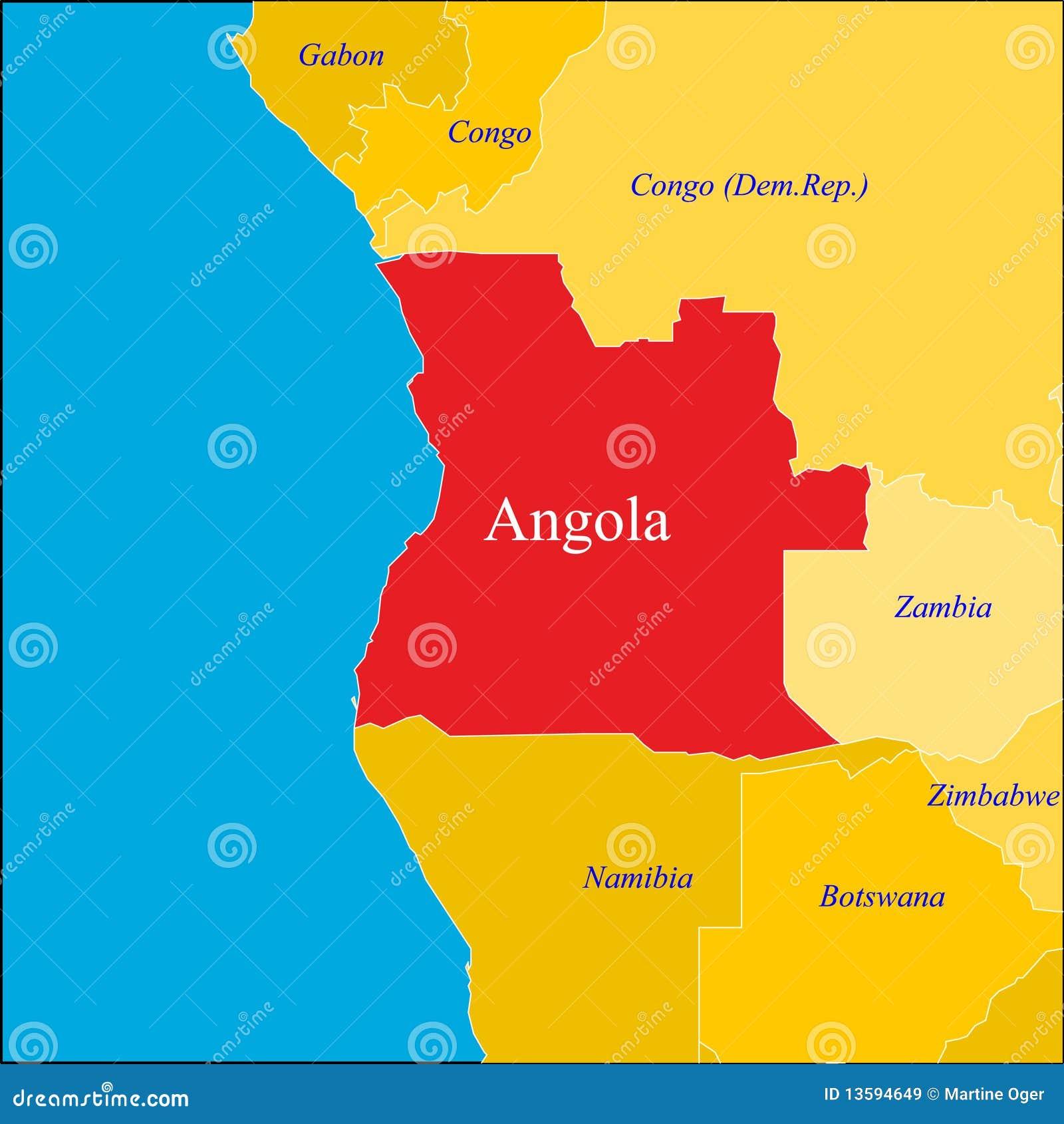 Angola Map Stock Vector Image Of Wallpaper Shape Border - Angola map